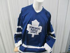VINTAGE CCM NHL TORONTO MAPLE LEAFS 2XL SEWN STITCH HOCKEY BLUE HOME JERSEY