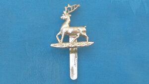 Staybright/Anodised.The Hertfordshire&Bedfordshire Yeomanry cap badge.