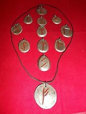 Rune Pendant Handcrafted Pewter Choice of 1 w/ Cord Magic Pagan Norse Viking