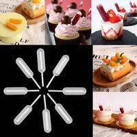 50Pcs Disposable Short Stem Plastic Transfer Pipettes For Cupcake Ice Cream