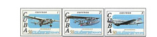 KUB79065 Aviation history of 5 stamps MNH