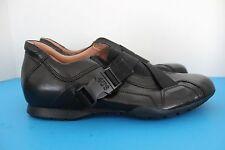 Mens PACIOTTI 4US BLACK Leather Athletic SNEAKERS~Size EU 38~US 6.5~Italian Made