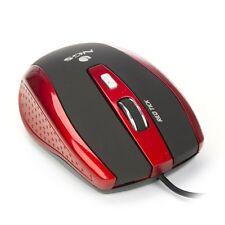 NGS Tick ratón óptico del juego por cable, 5 botones + rueda de desplazamiento-Rojo