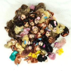 100pcs Wholesale Mattel 2cm Mini Rarely Tail Barbie Doll heads genuine item