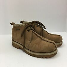 B-Boots By Buffalino Men's Tan Wheat Leather Suede Ankle Boots 8.5
