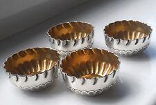 Conjunto de cuatro Plata Plateado sales de oro lavada Eduardiano-Prensado Llantas #