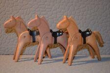 7632 playmobil dier lichtbruine paarden met zadel