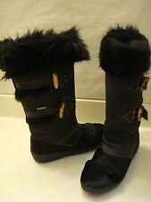 OSCAR SPORT Italy sz 40 (US sz 7.5) Black Apres Ski Boots