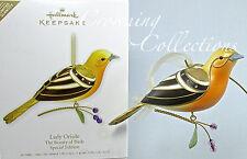 2011 Hallmark Lady Oriole Keepsake Ornament The Beauty of Birds Limited Quantity