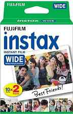 Fujifilm Instax Wide Instant Film Twin Pack 20 Sheets For Fuji 200 210 & 300
