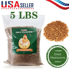 Dried Mealworms for Birds Chickens Hamster Fish Reptile Turtles 5 lbs Mealworms