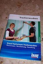 Knauf Trockenausbau Trockenbau Dachausbau Buch Broschüre Trennwände setzen ..