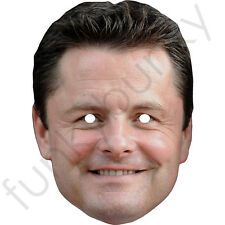 Chris Hollins Celebrity TV Personality Card Mask - All Our Masks Are Pre-Cut!