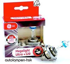 GE General Electric H4 MegaLight Ultra +120% más luz 2 Set TOP