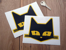 """SEV MARCHAL Large Cats Head Style Stickers 6"""" Pair Racing Car Race LeMans GT40"""