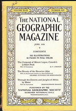 National Geographic June 1926 Mount Logan Africa by Motor Alps FREE US S/H
