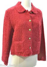 Bryan Connelly shaggy Bouncle Red Blazer fuzzy Jacket Coat Cardigan SZ M VTG NEW