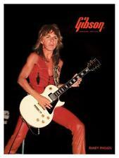 Randy Rhoads **LARGE POSTER** Gibson Les Paul Guitar Promo ad OZZY OSBOURNE