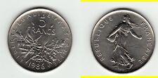 TRES RARE FDC 5 FRANCS NICKEL 1986  COTE 150 EURO !