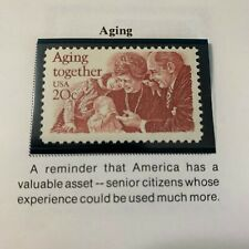 Scott # 2011 Aging Together 20 Cent Stamp- MNH