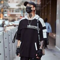 Men Hip Hop T Shirt High Street T-Shirt Streetwear Harajuku Tshirt Oversized Hoo