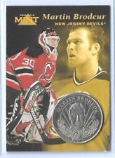 RARE 1996-97 PINNACLE MINT MARTIN BRODEUR SILVER / NICKEL COIN & CARD #23