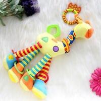 Infant Baby Development Soft Giraffe Animal Handbells Rattles Handle Toys JJ
