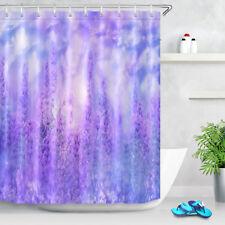 "Dreamlike Purple Lavender Fabric shower curtain Set Bathroom Accessories 71x71"""