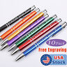 10 pack Custom Name Personalized Laser engraving Aluminum METAL Ballpoint pens