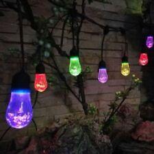 10x Festoon Bubble Solar Power LED Fairy String Lights Outdoor Hanging Garden