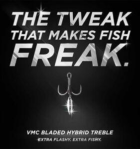 VMC Bladed Hybrid Short Treble 1X Hook - Choose Size