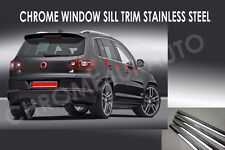 VW TIGUAN Chrome Window Sill Trim Overlay Stainless Steel 2008/2012 6pcs