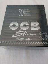 50 OCB PREMIUM BLACK KING SIZE SLIM SMOKING CIGARETTE ROLLING PAPERS