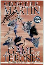 a GAME of THRONES #1 George R.R. Martin 1:50 Negative Signed Alex Ross (9.6/9.8)