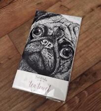 East of India 'Pugs and Kisses' Tea Towel Gift 1245 EOI