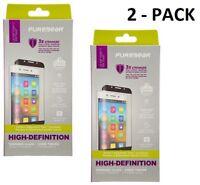 PureGear High Def Tempered Glass Screen Protector LG V30 / V30+ V35 ThinQ 2 PACK