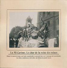 PHOTO PRESSE c. 1914 - Fêtes de la Mi-Carême Char Reine des Reines Paris - 218
