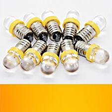 10X E10 Led Jaune 12V Diode Electroluminescente Luminaire Lampe Vis Ampoule