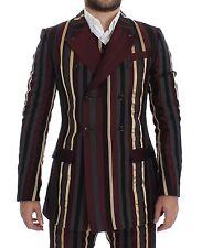 NWT $12800 DOLCE & GABBANA Striped Runway 3 Piece Slim Fit Suit Vest IT48 / US38
