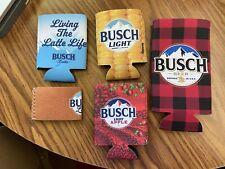 NEW Lot 5 Busch Light Can Cooler Coolie Koozie Corn Apple Latte 12oz 16oz