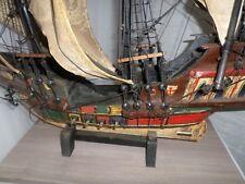 antikes SANTA MARIA 1492 KOLUMBUS Schiff groß SEGELSCHIFF m.Standfuß Dekoration