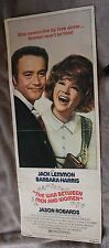 War between Men and Women 1972 Jack Lemmon Jason Robards Insert Poster GVG C5