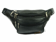 REAL LEATHER BUM BAG fanny pack waist money belt bumbag travel holiday festival