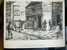 1940s Old Overholt Whiskey Premium'S 6 Famous Pennsylvania Inn Etchings