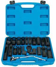 21pc Oxygen O2 Sensor Socket Set Oil Pressure Sending Unit Socket Removal Kit US