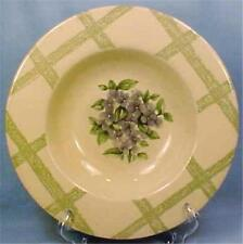 Pfaltgraff Garden Party Soup Bowl Violets Green Trellis Cream Stoneware Vintage