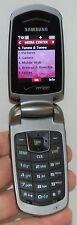 Samsung Smooth Verizon Flip-out Keyboard SCH-U350 Prepaid Mobile Phone GRAY -B-