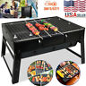 BBQ Barbecue Grill Folding Portable Charcoal Kabob Stove Camping Outdoor Cooking