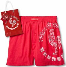 Sriracha BOXERS Boxer Shorts Red LARGE 36-38 Hot Sauce Rooster NEW Men's Size L