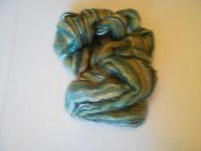Living felt wet felting a Cobweb Scarf kit   green gold white